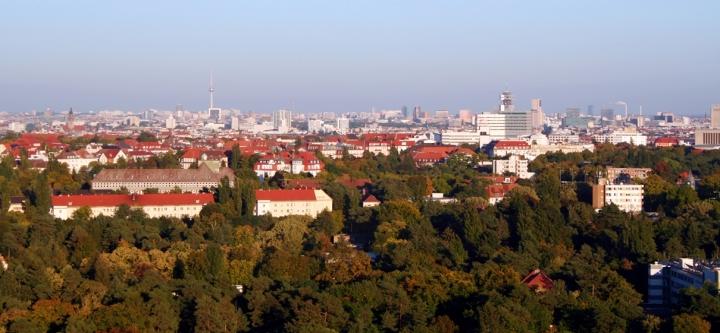 La vista su Berlino dal decimo piano